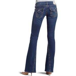 True Religion | Joey Twisted Hem Flare Denim Jeans